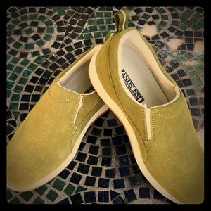 Land's End Green Suede slip Ins